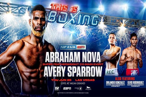Previa: El imbatido Abraham Nova se enfrenta al sustituto Avery Sparrow este jueves
