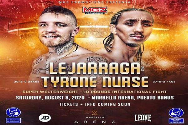 Kerman Lejarraga se enfrentará a Tyrone Nurse el 8 de agosto