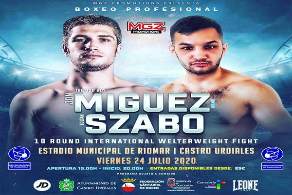 Previa: El boxeo profesional vuelve a España este viernes con el evento Míguez-Szabo