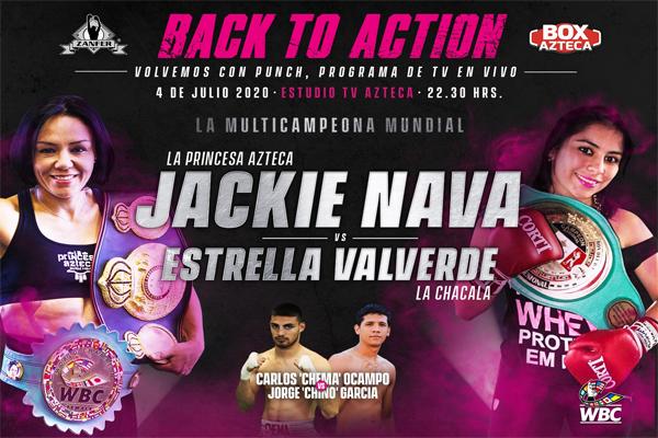 """Previa: """"La Princesa Azteca"""" Jackie Nava, posiblemente en el último año de su carrera, realiza pelea de preparación"""