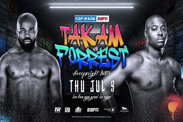 Previa: Tras el dopaje de Miller, el peso pesado Forrest se mide al exretador mundial Takam