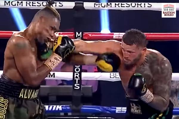 Imagen del combate entre Joe Smith y Eleider Álvarez