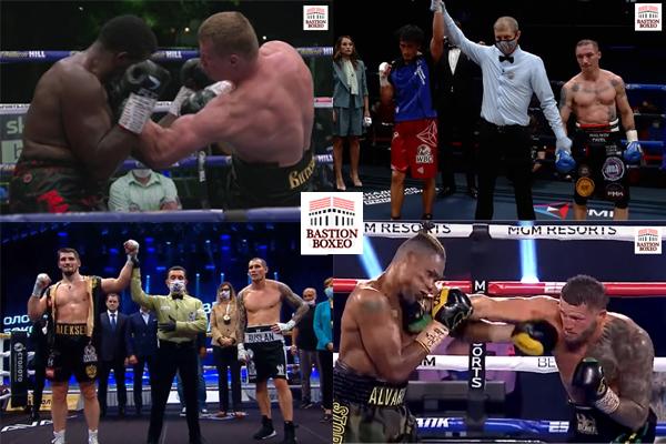 Resultados de los mejores combates de viernes y sábado (21y22/8/2020)