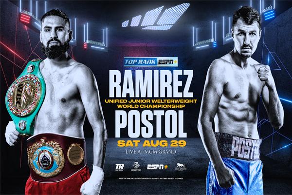 Previa: Tras dos aplazamientos, este sábado mundial unificado del peso superligero Ramírez-Postol