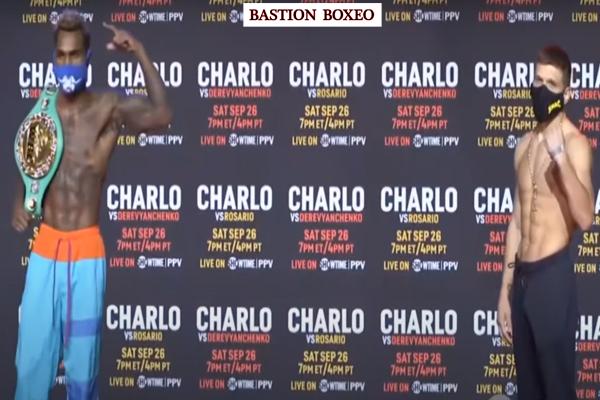 Resultados del pesaje del evento Charlo-Derevyanchenko y Charlo-Rosario