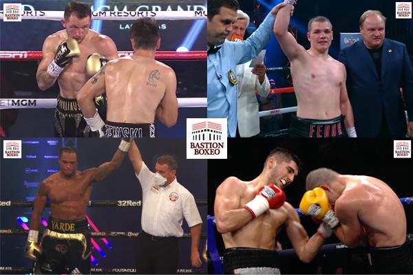 Resultados de los mejores combates de viernes y sábado (11y12/9/2020)