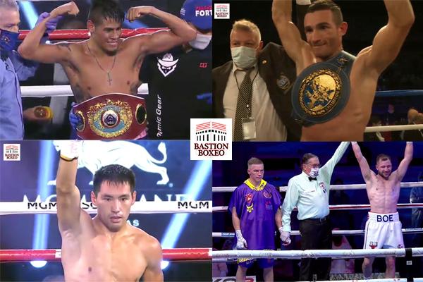 Resultados de los mejores combates de la semana (6al11/10/2020)