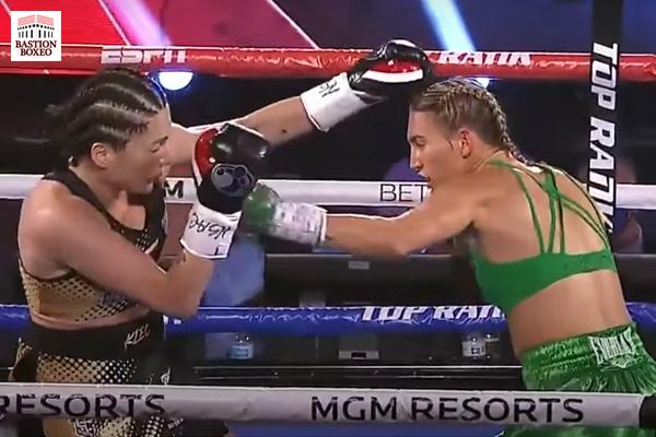 Mikaela Mayer se proclamó campeona mundial superpluma en el respaldo del Inoue-Moloney