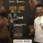 Imagen tras el pesaje para el combate entre Daniel Dubois y Joe Joyce