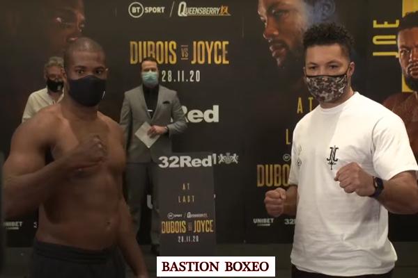 Resultados y vídeo del pesaje del Daniel Dubois vs. Joe Joyce