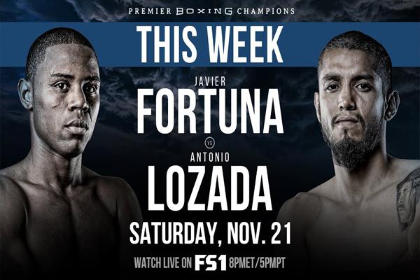 Cartel de la velada Javier Fortuna vs. Antonio Lozada