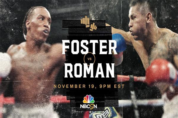 Cartel promocional del combate O'Shaquie Foster vs. Miguel Román