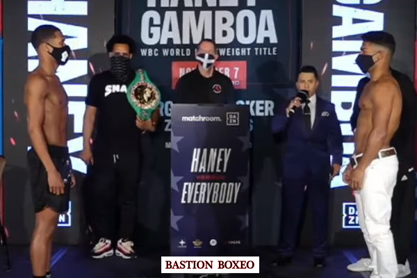 Resultados y vídeo del pesaje del evento Devin Haney vs. Yuriorkis Gamboa