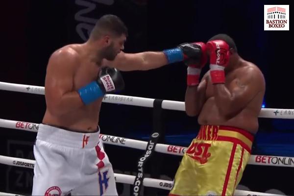 Imagen del combate entre Filip Hrgovic y Rydell Booker