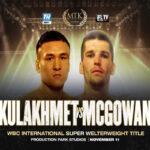 Tursynbay Kulakhmet vs. Macaulay McGowan