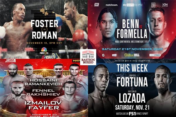 Mosaico de los mejores combates de boxeo de la semana (19al21-11-2020)