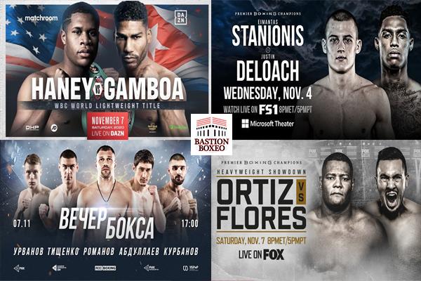 Mosaico de los mejores combates de esta semana (4 al 7/11/2020)