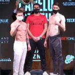"""Imagen tras el pesaje para el combate Saúl """"Canelo"""" Álvarez vs. Callum Smith"""