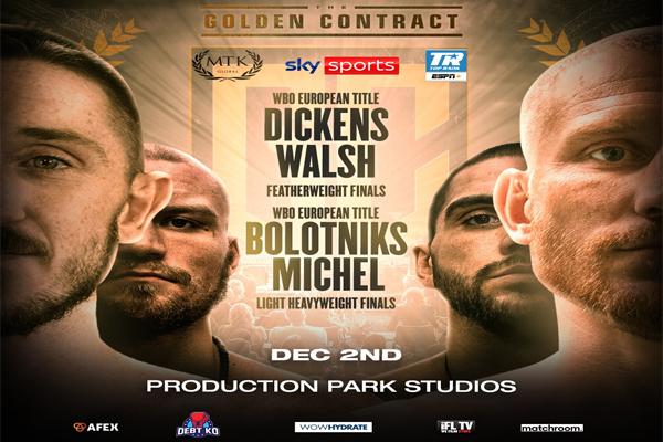 Cartel del evento Ryan Walsh vs. James Dickens