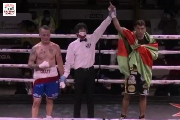 El campeón de Europa superwélter Sergio García dominó su rodaje ante el sustituto Gregory Trenel hasta alcanzar KOT