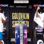 Imagen tras el pesaje para el combate Gennadiy Golovkin vs. Kamil Szeremeta