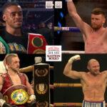 Mosaico de los resultados de los mejores combates de la semana (2al5/12/2020)