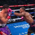 Imagen del combate entre Errol Spence y Danny García