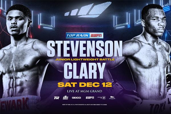 Cartel de la velada Shakur Stevenson vs. Toka Kahn Clary