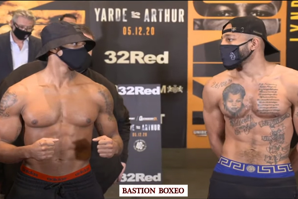 Imagen del pesaje del combate Anthony Yarde vs. Lyndon Arthur