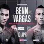 Cartel del evento Conor Benn vs. Samuel Vargas