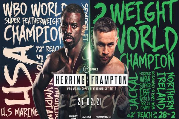 Cartel promocional del Jamel Herring vs. Carl Frampton