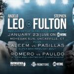 Cartel de la velada Angelo Leo vs. Stephen Fulton
