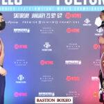Cara a cara tras el pesaje para el combate Angelo Leo vs. Stephen Fulton