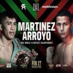 Cartel promocional del combate entre Julio César Martínez y McWilliams Arroyo