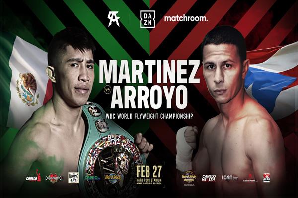 Confirmado oficialmente mundial Julio César Martínez vs. McWilliams Arroyo como respaldo del Canelo-Yildirim