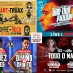 Mosaico de los mejores combates del fin de semana (29y30-1-2021)