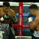 Imagen del combate entre Franco Ocampo y Brian Chaves