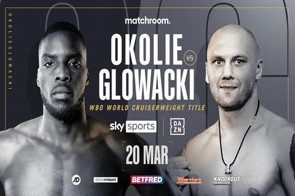 Cartel del evento Lawrence Okolie vs. Krzysztof Glowacki