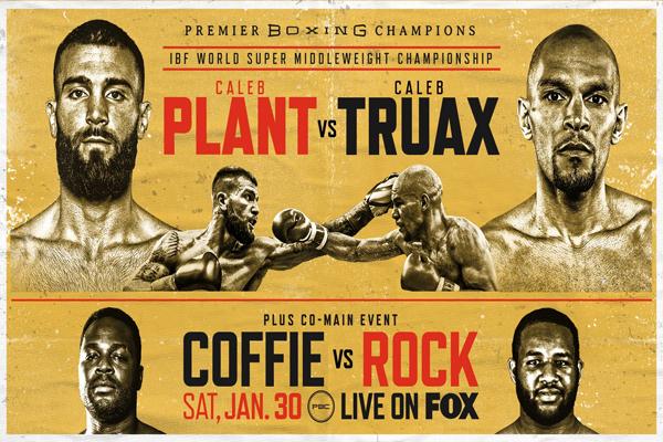 Cartel promocional del evento Caleb Plant vs. Caleb Truax