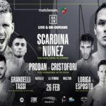 Cartel promocional de la velada Daniele Scardina vs. César Núñez