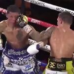 Óscar Valdez impacta el golpe de la victoria ante Miguel Berchelt