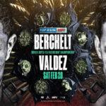 Cartel promocional del combate Miguel Berchelt vs. Óscar Valdez