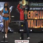 Careo tras el pesaje para el combate Miguel Berchelt vs. Óscar Valdez