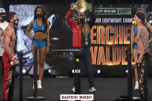 Resultados y vídeo del pesaje de la velada de Top Rank Miguel Berchelt vs. Óscar Valdez