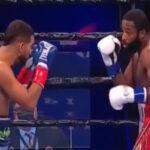 Imagen del combate entre Adrien Broner y Jovanie Santiago