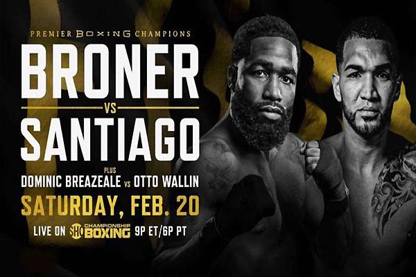 Cartel promocional del combate Adrien Broner vs. Jovanie Santiago