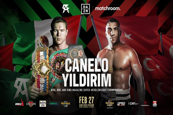 Cartel promocional del combate Canelo Álvarez vs. Avni Yildirim