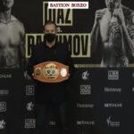 Imagen tras el pesaje para el combate Joseph Díaz vs. Shavkat Rakhimov