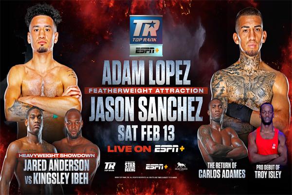 Previa: El excampeón Commey, el peso pluma Adam López y el prospecto pesado Jared Anderson protagonistas del respaldo del Smith-Vlasov