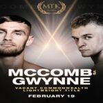 Cartel promocional de la velada Sean McComb vs. Gavin Gwynne